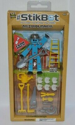 Stikbot Action Pack Farm Pack Blue Role Play Accessory • 9.99£