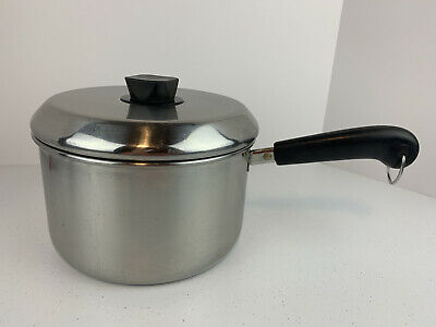 $ CDN40.59 • Buy REVERE WARE 4 Qt. Sauce Pan Pot Stainless Steel USA 1801 WITH LID