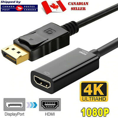 $ CDN6.75 • Buy DisplayPort DP Male To HDMI Female Cable Adapter Converter For 1080P HDTV PC