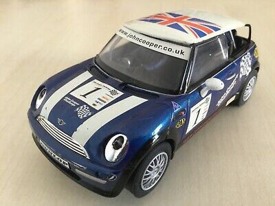 Scalextric C2527 BMW Blue Mini Cooper Working Lights No Rear Glazing New Tyres • 6.99£