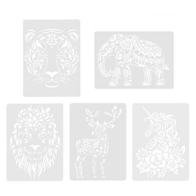 Scratch Painting Stencils Animal Drawing Template DIY Lace Ruler Kids Toys • 3.99£