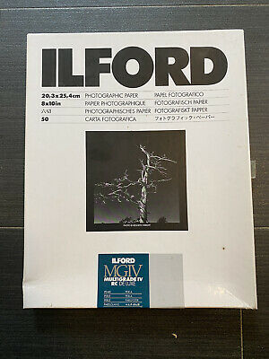 ILFORD MGIV MULTIGRADE IV PEARL 8x10in 50 SHEETS 8x10 PAPER B&W PRINTING 2 OF 2 • 15£