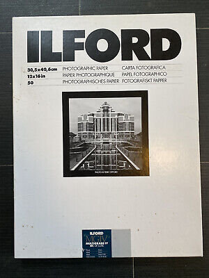 ILFORD MGIV MULTIGRADE IV PEARL 12X16in 50 SHEETS 12X16 PAPER B&W PRINTING • 25.09£