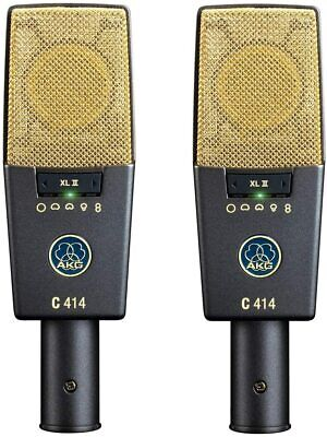 £1644.97 • Buy AKG C414 XLII Stereo Set Condenser Microphone Pairs Large Diaphragm Cardioid