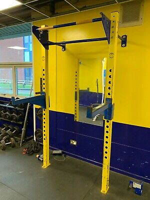 $ CDN849.17 • Buy Wall Mounted Commercial Gym Squat/Press Rack With J Hooks