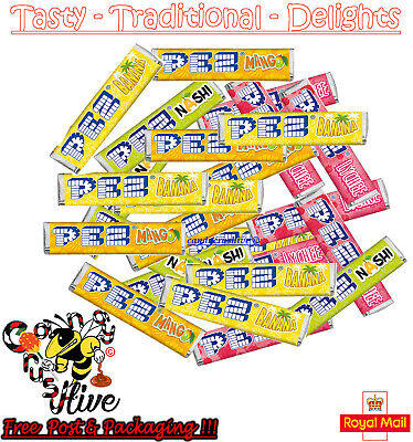 Pez Exotic Fruit Candy Refills Mix Flavours Sweet For Pez Dispenser Boiled Retro • 8.97£