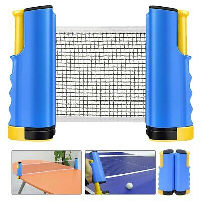 AU21.92 • Buy Portable Lightweight Retractable Table Tennis Net Ping Pong Replacement Net Rack