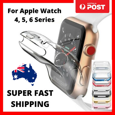 AU2.95 • Buy For Apple Watch IWatch Series SE 6 5 4 Clear Case Full Cover 40mm 44mm Fast Post