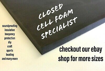 £14 • Buy 2 Soundproofing Sheets Closed Cell High Density Foam 2.4 Metre X 270mmx8mm Thick