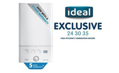 Ideal Logic Exclusive 35kW Combi Boiler With Flue & Clock - 5 YEAR WARRANTY • 690£