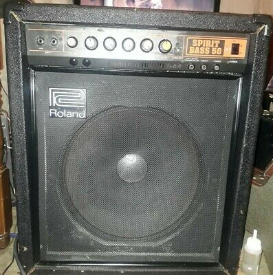 AU301.90 • Buy Vintage 🇯🇵roland Spirit Bass 50 Bass Guitar Amplifier Serviced Grab A Bargain