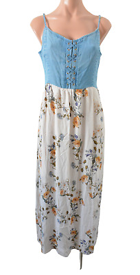 AU34.95 • Buy Forever New Dress Size 12 (10) Blue Brown Floral Slip Maxi