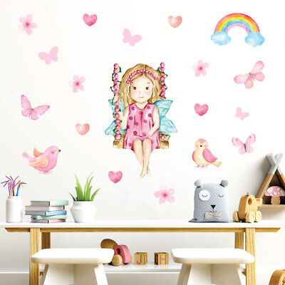 £14.95 • Buy Fairy Wall Stickers, Wall Decals, Cute Smiling Fairy FARY.3