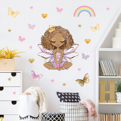 £14.95 • Buy Fairy Wall Stickers, Wall Decals, Beautiful Princess Crown Fairy FARY.6