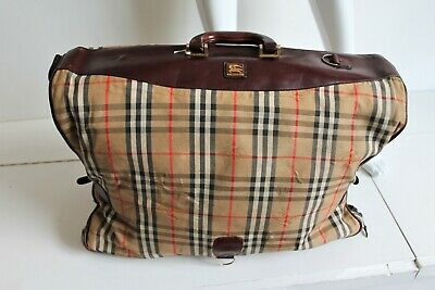 £199.99 • Buy Burberry's Burberry Vintage 1980s Luggage Suit Carrier Weekend Bag Nova Check