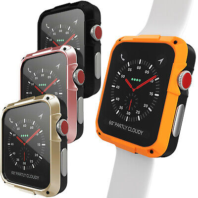 $ CDN11.32 • Buy For Apple Watch Series 4/5/6/SE 40/44mm Heavy Duty Screen Protector Case Cover
