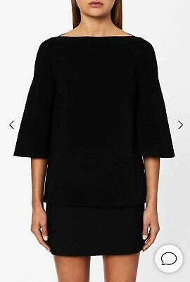 AU150 • Buy BNWT Scanlan Theodore Micro Crepe Boat Neck Sweater
