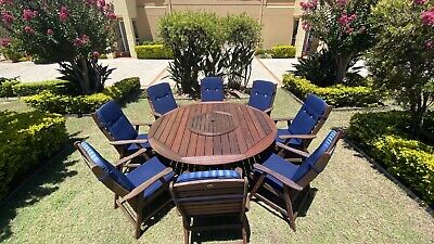 AU1100 • Buy Outdoor Timber Dining Setting Seating 8 With Lacy Susan