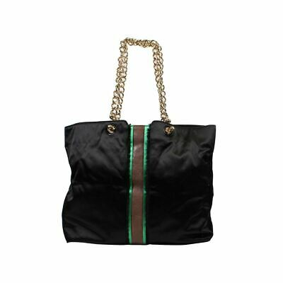 LANVIN Black Satin Striped Cabas Tote Bag, 12  X 6  X 16  • 135.99£