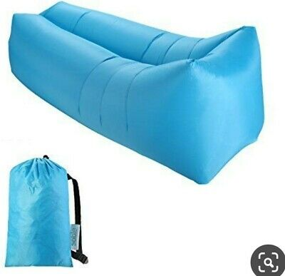 £10.49 • Buy Stable .Lazy Lounger Inflatable Air Bed. Great For Camping/holidays/garden/ BLUE