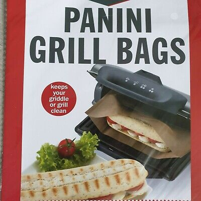10 Reusable Panini Grill Griddle Bags Toasted Sandwich Toastie Toastabags • 10£