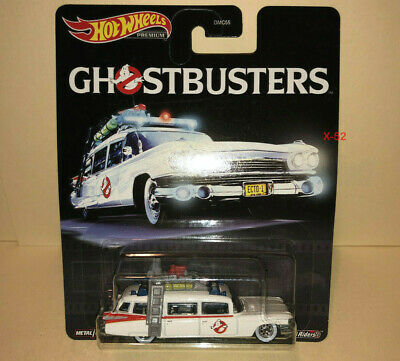 Hot Wheels GHOSTBUSTERS Ecto-1 Diecast Car Movie Toy 1984 Ver 1:64 White Tires • 18.08£