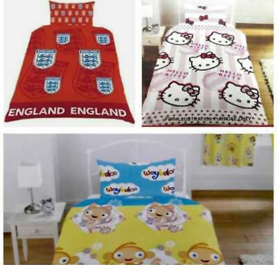 £12.99 • Buy Kids Bedding Duvet Sets  Quilt Cover With Pillow Cases