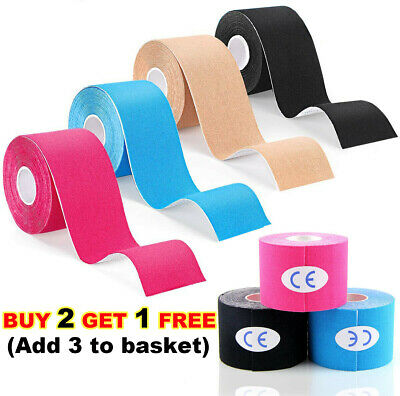 Running Sports Muscle Elastic Tape Gym Supports Bandages Strap Ankles Pain Care • 6.67£