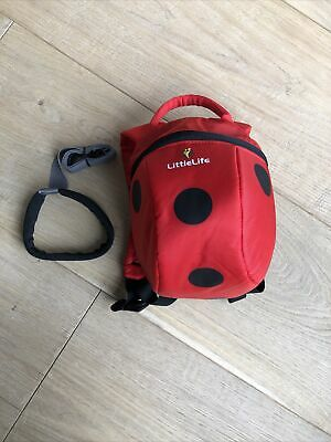 Genuine Littlelife Ladybird Toddler Backpack With Detachable Rein • 10£