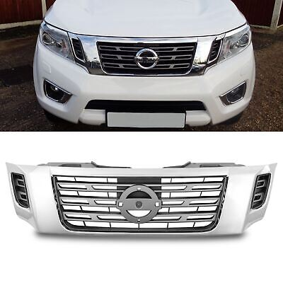 £99.99 • Buy Grey Chrome Front Styling Badge Grill Grille For Nissan Navara D23 Np300 15-20