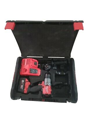Milwaukee M18 Brushless Fuel Combi Drill And 5amp Battery • 205£