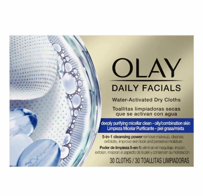 AU36.18 • Buy Olay Daily Facials Water-activated Dry Cloths (30 Sealed In Box)   New Uk