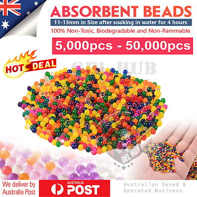 AU14.95 • Buy 11-13mm Water Beads Orbeez Gel Balls Crystal Jelly Soil Vase Wedding Centrepiece