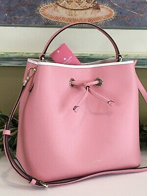 $ CDN151.87 • Buy Kate Spade Eva Large Bucket Shoulder Tote Bag Crossbody Pink Carnation Leather