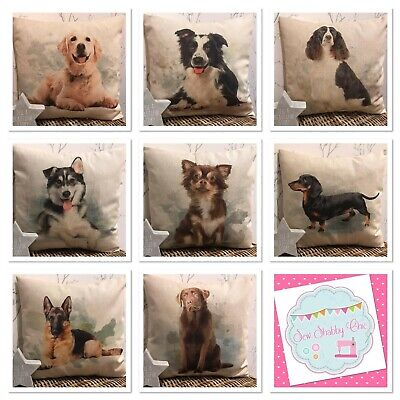 £8.50 • Buy Chatham Glyn Country Natural Linen Look Animal Dog Friends Cushion Covers 16x16