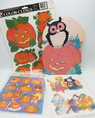$ CDN31.23 • Buy Vintage Lot Of Halloween Decorations Static Cling Etc.1980's 1990's