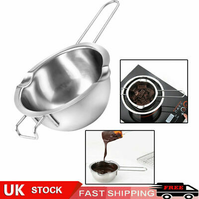 UK Stainless Steel Wax Melting Pot Double Boiler For DIY Wedding Scented Candle • 6.19£