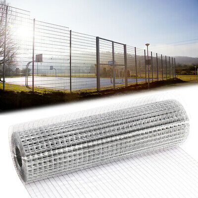 Galvanised Welded Wire Mesh Fence Aviary Rabbit Hutch Chicken Mesh Netting Roll • 30.95£