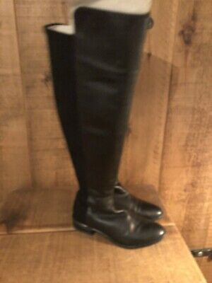 Sale !!!clarks  Caddy Belle  Black Leather Over The Knee Boots Uk4 Rrp £150.00 • 39.95£
