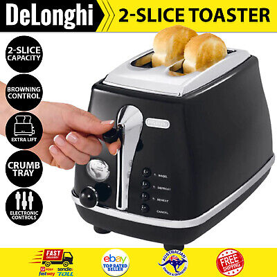 AU124.59 • Buy 2-Slice Electric Toaster DeLonghi Icona Bread Toaster Small Kitchen Appliance
