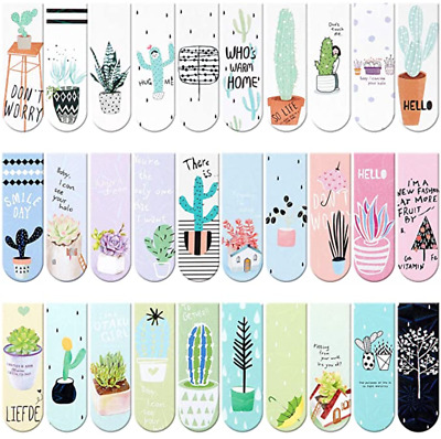 £4.99 • Buy 6 Pcs Random Cute Magnetic Bookmarks Page Markers Page Clips For Student Office