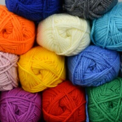 COLOURFUL 100G CHUNKY WOOL Yarn Soft Crochet Soft Large Thick HIGH QUALITY  • 2.99£