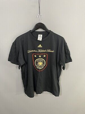 ADIDAS GERMANY FOOTBALL T-Shirt - Size XL - Black - Great Condition - Men's • 19.99£