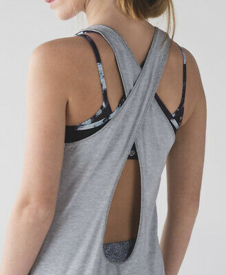$ CDN45.67 • Buy Lululemon Physically Fit Tank Top Racerback Heathered Grey Wee Striped Size 6/8