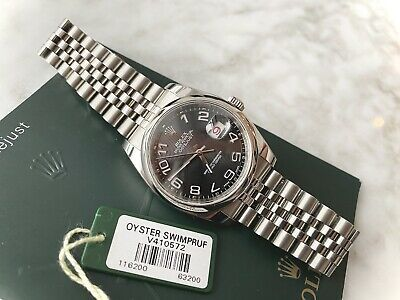 $ CDN8150 • Buy Rolex Datejust 116200 Black Concentric Dial Roulette Date On Jubilee