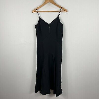 AU29.95 • Buy Forever New Womens Dress 8 Black Sleeveless V-Neck Zip Closure