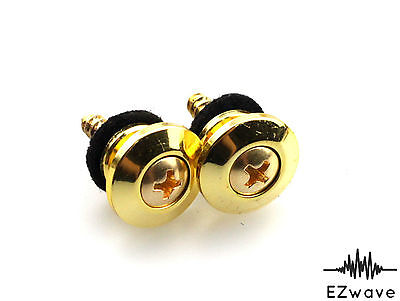 $ CDN11.32 • Buy 5 Pairs Gold Guitar Bass Strap Button 16mm Diameter With Washers & Screws