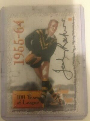AU150 • Buy 1995 AUS Rugby League Series 2 Card No196 Hand Signed By Johnny Raper