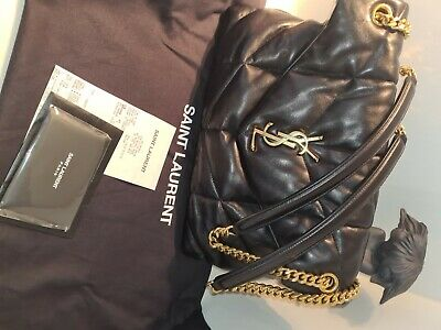 AU3250 • Buy YSL Black Puffer Medium Bag In Quilted Lambskin Immaculate Condition