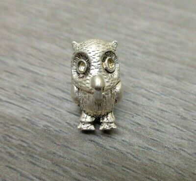 Solid Silver Charm Owl Opens • 4.20£